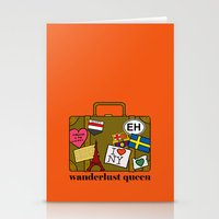 Wanderlust Queen Stationery Cards