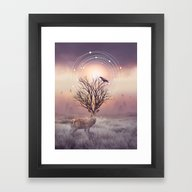 Framed Art Print featuring In The Stillness by Soaring Anchor Desig…