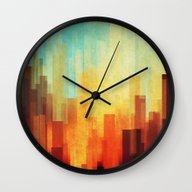 Urban Sunset Wall Clock