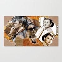 Audrey Hepburn - Ripped … Canvas Print