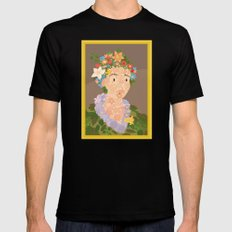 Flora by  Giuseppe Arcimboldo Mens Fitted Tee Black SMALL