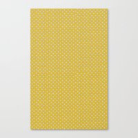Yellow spots Canvas Print