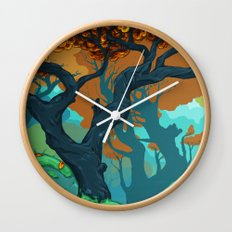 End of Fall Wall Clock