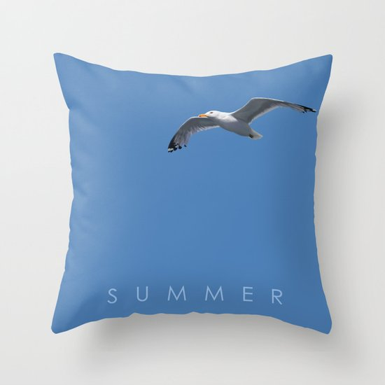Blue Series #001 ~ Summer Throw Pillow