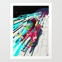 Faster than GAME OVER v1.0 +ART PRINT DESIGN+ Art Print