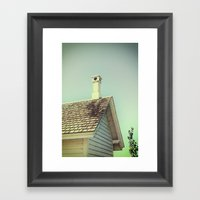 Summer cottage gable roof Framed Art Print