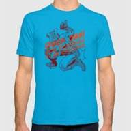 Powdered Toast Man -afte… Mens Fitted Tee Teal SMALL