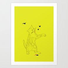THE EVIL CAT Art Print