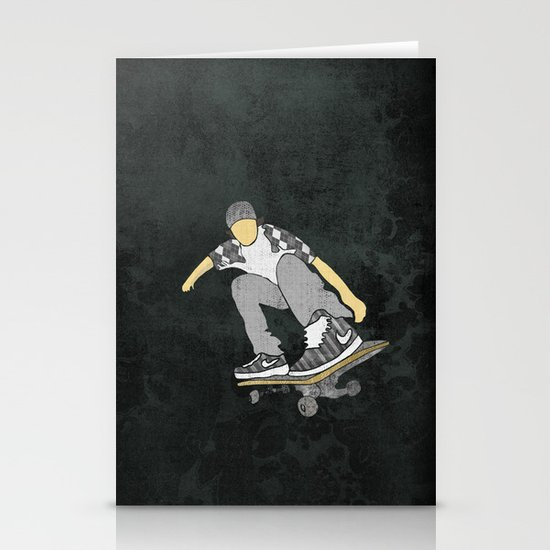 Skateboard 11 Stationery Card