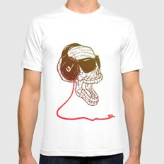 Sound SMALL White Mens Fitted Tee