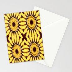 Sunflowers Yellow & Brown Mandala Stationery Cards