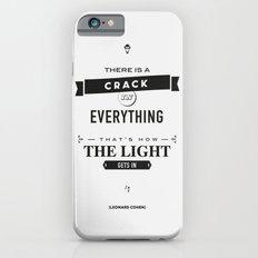 Leonard Cohen, Motivational Quote iPhone 6s Slim Case