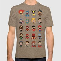 Screaming Heroes Mens Fitted Tee Tri-Coffee SMALL