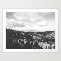 Mountains And Desert Vie… Art Print