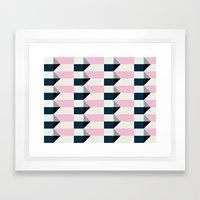 Crispijn Pink & Blue Framed Art Print