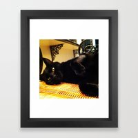 Golden Eyes Framed Art Print