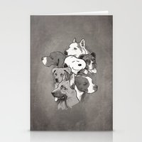 dogs Stationery Cards featuring Dogs by Ronan Lynam