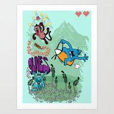 9 lives theme 1 Art Print