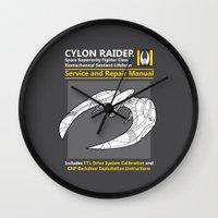 Cylon Raider Service and Repair Manual Wall Clock