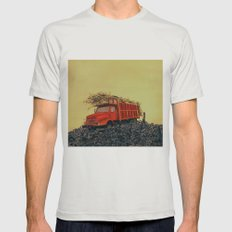sugar cane and truck on fire Mens Fitted Tee Silver SMALL