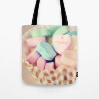 Je T'aime Valentine Tote Bag