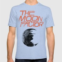 The Moon Factor Mens Fitted Tee Tri-Blue SMALL