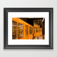 U-Bahn Mirror Framed Art Print