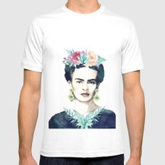 Frida Kahlo  Mens Fitted Tee White SMALL