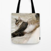 Cat Dreaming Tote Bag