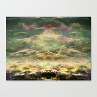 Head in the Clouds by Debbie Porter - Designs of an Eclectique Heart Canvas Print