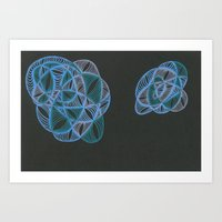 Nebula Twins One Art Print