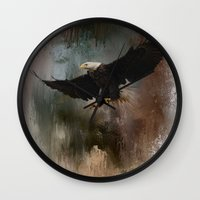 Winter Eagle 1 Wall Clock