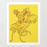 The Yellow Kracken Art Print