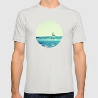 Sailin' Mens Fitted Tee Silver SMALL