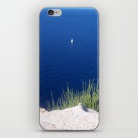 Lonely sailboat off the Mediterranean coast iPhone & iPod Skin
