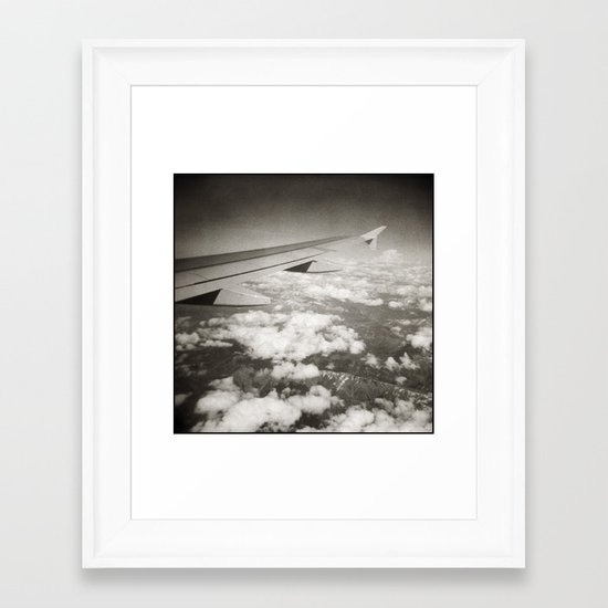 { flying high } Framed Art Print