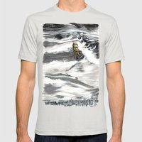 Beasts of Montreal Mens Fitted Tee Silver SMALL