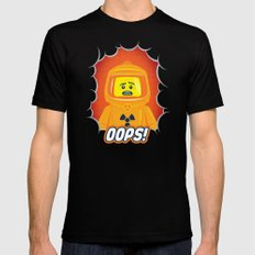 Oops! SMALL Black Mens Fitted Tee