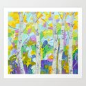 Dancing Birch Trees Art Print