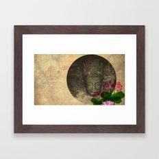 lotus buddha Framed Art Print