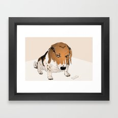 Beagle Bailey Framed Art Print