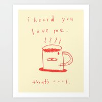 coffee talk Art Print