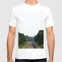 Tracks Mens Fitted Tee White SMALL
