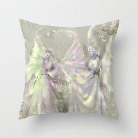 Faerie Girls Throw Pillow