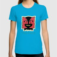 Division Bell Womens Fitted Tee Teal SMALL
