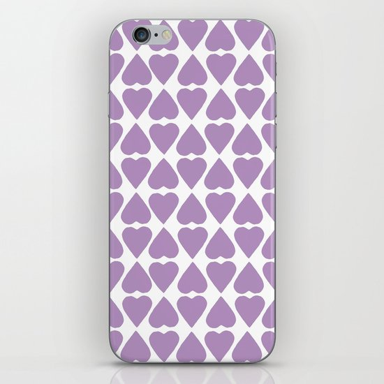 Diamond Hearts Repeat O iPhone & iPod Skin