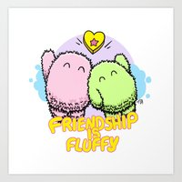 Friendship is fluffy Art Print