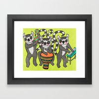 Dancing Lemurs Framed Art Print
