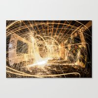 A Room On Fire Canvas Print