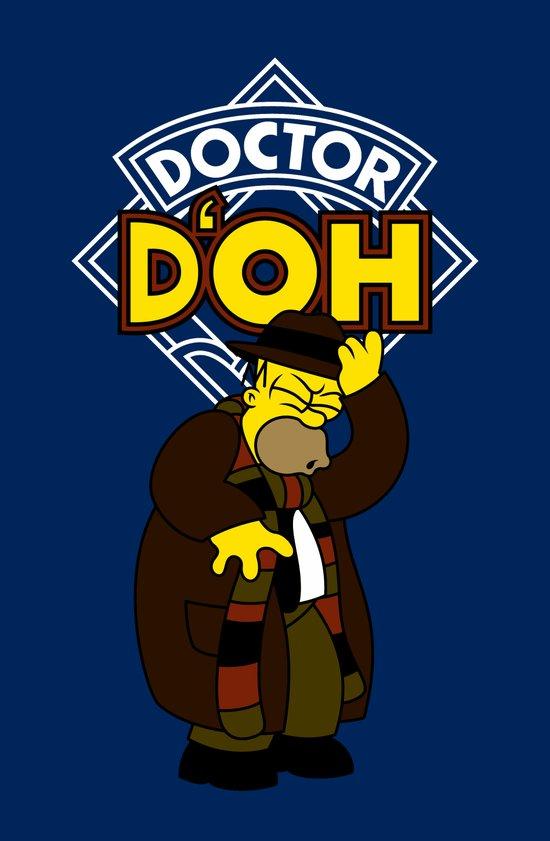Doctor D'oh Art Print